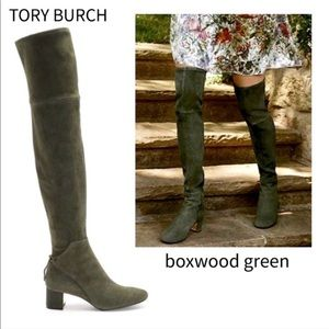 Tory Burch Laila over the knee boxwood boots